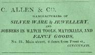 1837 C. Allen & Co Advertisement