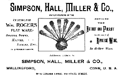 1891 Simpson, Hall & Miller Ad
