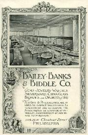 Early 1900's Bailey, Banks & Biddle Co. Catalog