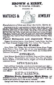 1842 Brown & Kirby Advertisement