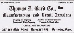 1916 T.D. Gard Co. Advertisement