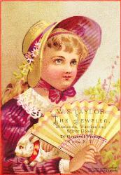 c. 1880 W.S. Taylor Trade Card